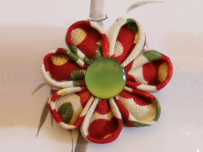 Japanese Cotton Brooch