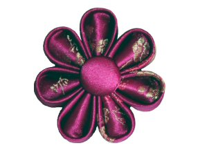 Fuschia Brocade Brooch