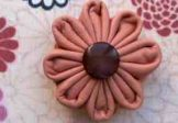 Apricot Leather Brooch